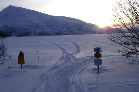 Scooterløyper: Løypenettet i Hemnes kommune ble åpnet første februar.  FOTO: Håkon Økland