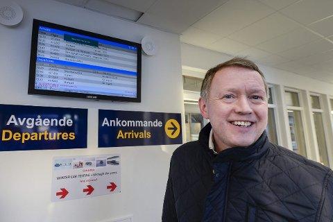 FORVENTER: Henrik Johansen forventer at regjeringen står ved sine lovnader for ny flyplass i Rana. Han ønsker både prosjektet i Bodø og  Rana realisert. Foto: Øyvind Bratt