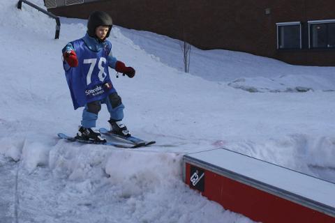 UNG, MEN GOD: Konkurransens yngste deltager var Tord Bernersen Bull-Gjertsen. Han er 5 1/2 år. Foto: Normal SK