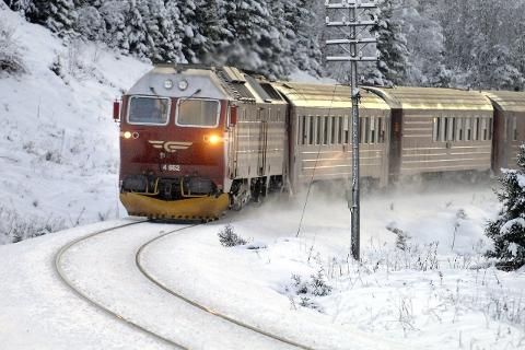 Politiet fant 5 kg hasj på toget som tilhørte en mann på vei fra Oslo til Bodø. Foto: Øyvind Bratt