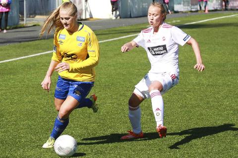 NYE MULIGHETER: Lisa-Marie Karlseng Utland skal jakte nye scoringer for Trondheims-Ørn denne sesongen. Den første kom allerede i åpningskampen mot Medkila. Foto: Stein Langørgen