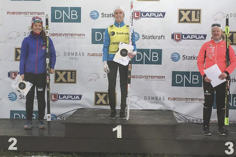 TOPPSESONG: Emilie Ågheim Kalkenberg, Skonseng UL, kronet en super sesong med å vinne norgescupen sammenlagt, klasse jenter 19 år. Det klarte hun ved å bli nummer fire i finalerennet på Dombås. Foto: Privat