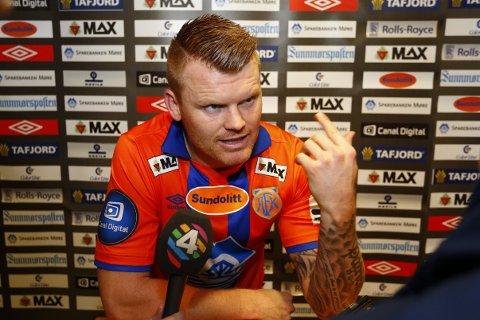 Aalesunds John Arne Riise etter eliteseriekampen mellom Aalesund og Brann på Color Line Stadion søndag.