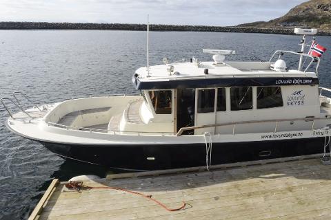 SMÅOPPDRAG: Selskapet Lovundskyss har handlet inn en Targa 44 som sjøtaxi. Båten har fått navnet Lovund Explorer.