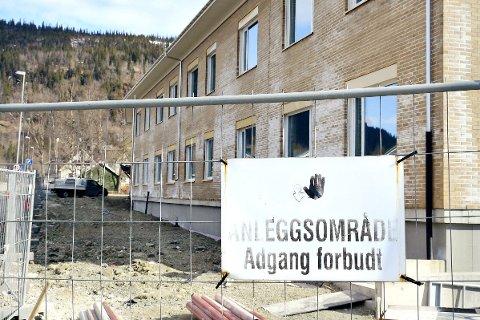Selfors sykehjem: Politiet gikk i april til aksjon og pågrep bygningsarbeidere ved prosjektet nye Selfors sykehjem. FOTO: Viktor Leeds Høgseth
