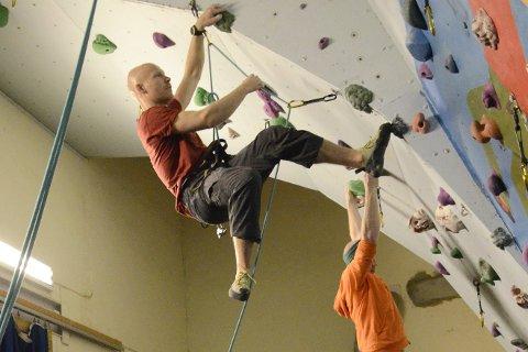 VEKST: Rana klatreklubb mener en ny klatrehall er det som behøves for å skape et klatremiljø i Rana.