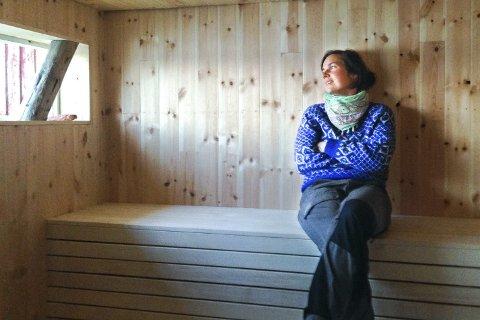Nytt liv: Maja Hallén sto i spissen for arkitektteamet som sto bak dugnaden for å gi et gammelt naust-nytt liv.Foto: Moa Björnson