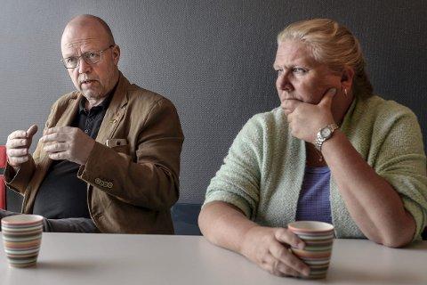STERKT: De sterke minnene kommer tilbake for Geir Waage og Merete Torsteinsen når de snakker om 22. juli for fem år siden. Foto: Øyvind Bratt