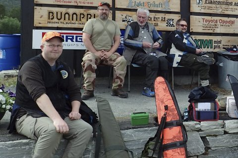 I nm elgbane: Her er noen av skytterne som deltok. Foto: Privat