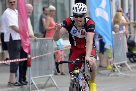 FORNØYD: Jan Erik Hansen fra Rana sykkelklubb var meget godt fornøyd med tredjeplass.