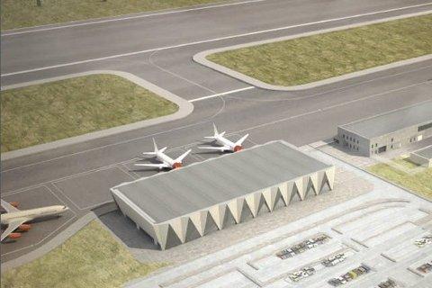 Høst: Luftfartstilsynet sier de skal sende sin anbefaling for ny flyplass i Rana tidlig denne høsten. Skisse: PLU