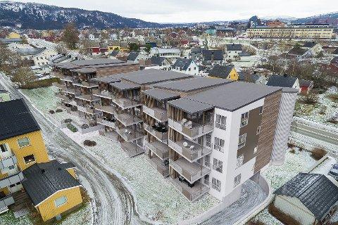 Slik: Her kommer Byhagen borettslag, som etter planen har byggestart i høst. Utbygger er det Bodø-baserte firmaet Arbitrasje AS.Foto: Byhagen borettslag