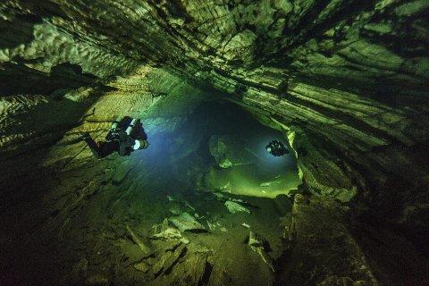Utsikten under vann kan være spektakulær.