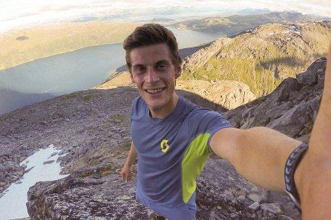 Siste forberedelser: Rolf Einar Jensen har hatt mange turer i fjellet i sommer. Nå er han klar for mer verdenscup. Foto: Privat