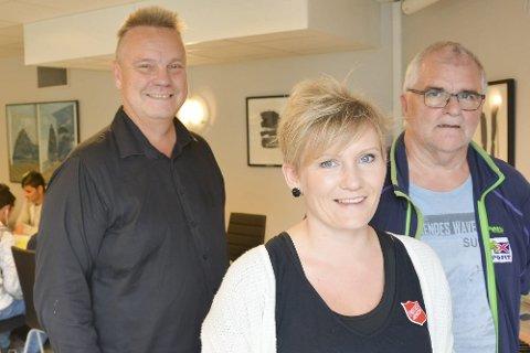 Integrering: Eva-Maria Nygaard, Willy Vonstad og Stein E. Hovind håper prosjektet for integrering, sosialisering og aktivisering skal slå røtter på Mo. Foto: Viktor Leeds Høgseth