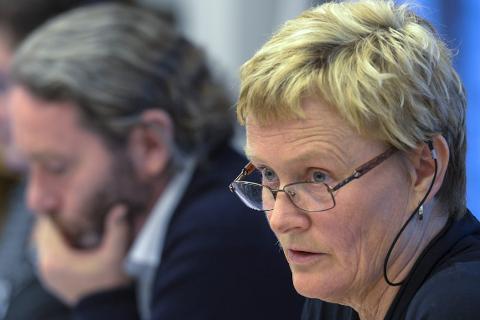 RASKT: Ordfører Hanne Davidsen håper politiet oppklarer saken med opphengingen av naziflaggene raskt. Foto: Øyvind Bratt