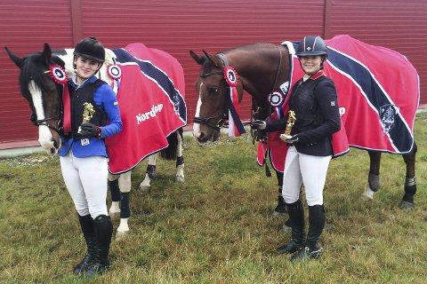 NORDLANDSCUP: Annette Skogheim Hansen vinner av hesteklassen og Simone Willassen Våtvik vinner av rekruttklassen.