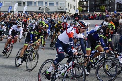 Arctic Race of Norway blir ikke å finne i Russland i 2017. Her fra etappen som startet i Mo i Rana under årets ritt.