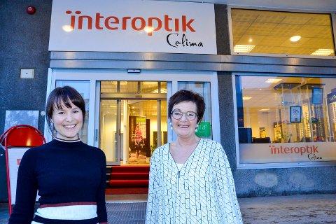 Ny kjede: Celima er fra 1. januar en del av optikerkjeden Interoptik, forstsatt med Cecilie Rafdal (t.v.) og Lisbeth Krane som innehavere.