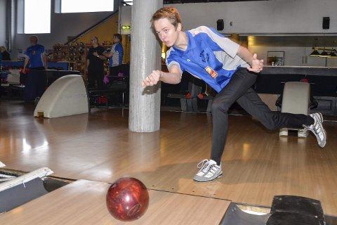 Hjemme best: Max Østberg og Rana bowlingklubb spiller hjemme.