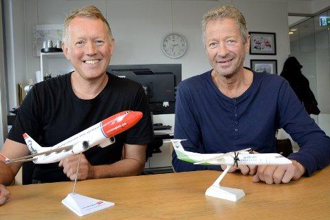 Avklaring: Daglig leder Henrik Johansen (t.v.) og kjøpmann, investor og styreleder Erik Wulfsberg er på offensiven for å få avklart medfinansiering av flyplassen på Haunan.