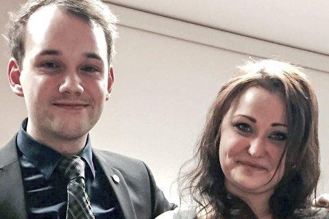 Frp-ungdom: Rudi Helmersen og Veronica Pedersen Åsheim.