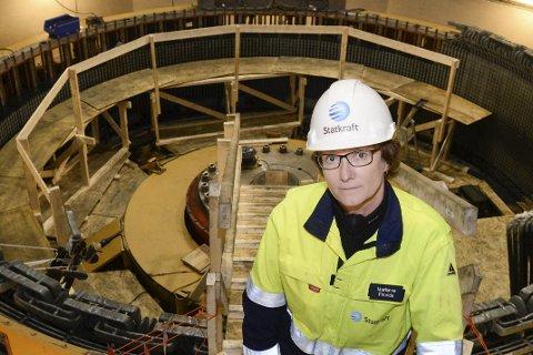 I reparasjonsalderen: Aggregatet som havarerte i Langvatnet kraftverk var 51 år gammelt. Det betyr at det har kommet opp i reparasjonsalderen, sier kraftverkssjef Marianne Fineide i Kraftverksgruppe Rana.