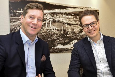 Gleder seg: Bjørn Immonen (t.v.) og Thomas Andreassen.