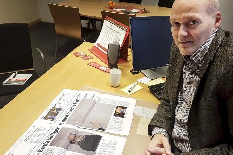 SAMKJØRING: Direktør for bedriftsmarkedet i Helgeland Sparebank, Bjørn-Tore Brønlund, mener det er tid for å tenke samarbeid om hallstrukturen både for idrettslagene og Rana kommune. Foto: Trond Isaksen