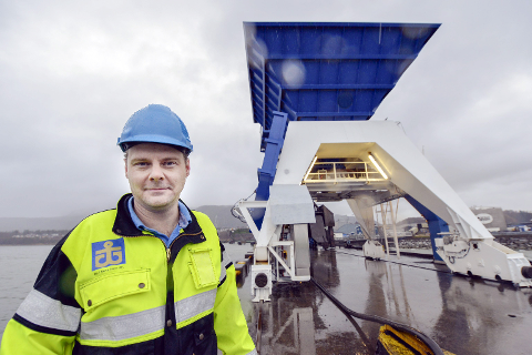 UTVIKLING: Havnefogd Svein Tore Nordhagen samarbeider med Mo industripark om å utvide havna.