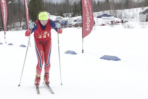Andrine Bjørkmo fra Bossmo & Ytteren ble kretsmester i 16-årsklassen.