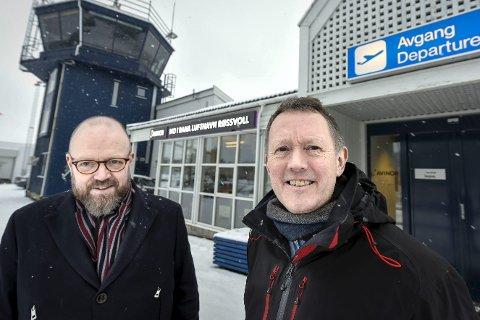 Ordfører Geir Waage (A) og PLUs Henrik Johansen. Arkivfoto: Øyvind Bratt