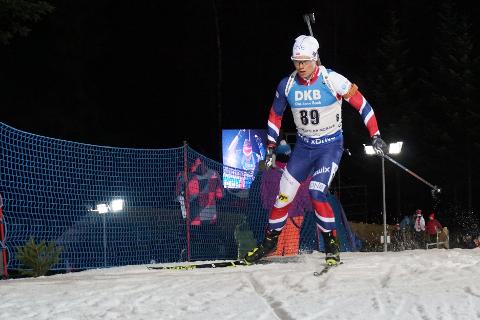 Fredrik Gjesbakk ble nummer 92 i sin verdenscupdebut i Nove Mesto før jul. Etter det løpet ble han syk og har meldt forfall til IBU-cuprennene i Martell som starter torsdag.