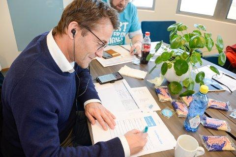 Markedssjef Jan Gabor i MIP fikk en bedrift fra Oslo til å bidra til høyere giverbeløp i Rana.