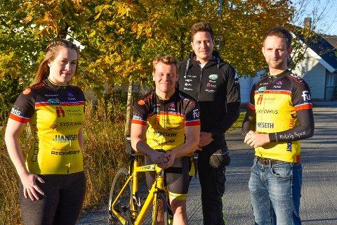 Team Rynkeby. F.v Lise Merete Henriksen, Markus Sørfjordmo, Sebastian Bratt og Jørn Erik Søfting
