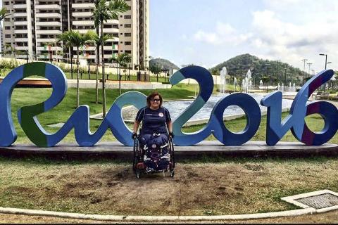 KLAR: Anne-Cathrine Krüger i deltakerlandsbyen under de paralympiske lekene i Rio de Janeiro.
