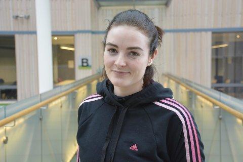 Fornøyd: Hilde Beckmann Pedersen, leder i Rana Student-forening, er fornøyd med at det bygges i sentrum.