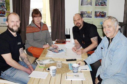 Gleder seg: Styret i Lappland Arrangemang AB jobber året rundt med planleggingen. Hans-Olof Dahlbom (f.v), Annalena Nyholm, Daniel Svenson og Kurt Lundgren.