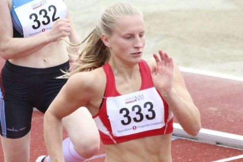 Delvis fornøyd: Strand kom til semifinalen i NM.