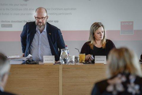 Inhabil: Ordfører Geir Waage var inhabil, slik at Linda Eide fungerte som ordfører da saken ble behandlet. Foto: Øyvind Bratt