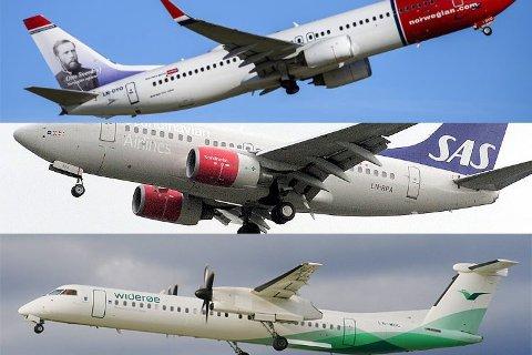 Mulighetene: SAS, Widerøe og Norwegian utelukker ikke muligheten for å opprette ruter fra den nye flyplassen på Helgeland.