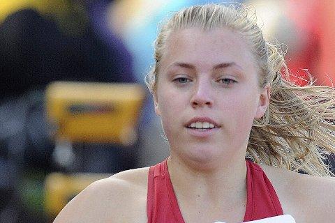 Medalje: Vilde Gjesbakk løp godt i helgas UM, og tok bronse på 60 meteren.