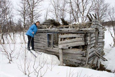 Gunn ved koia til Harald Johnsson 66 år etter at hun var der sist.
