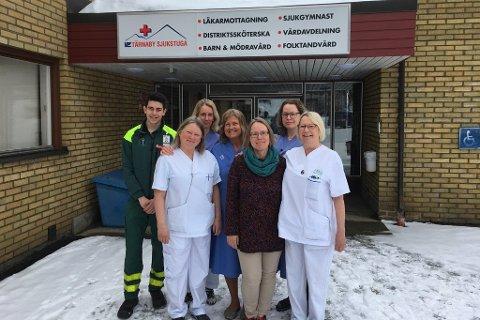 Emin Chebaane, Anna Hessling, Nicola Reiser, Lena B Forsberg,Catharina Ingvarsson, Anna Brodin och Katarina Mosesson är några av de som jobbar på Tärnaby sjukstuga.