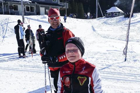 FLOTT: Flott vær- og førehold i Langfjellrennet. Her ved innkomsten på Skonseng. Foto: Mette Fallhei