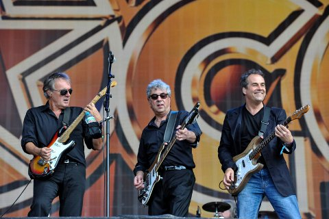 10CC perform on the last day of Barclaycard British Summer Time Festival in Hyde Park,London on 13th July 2014.