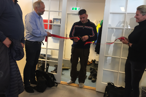 Frode Nilsen, Statsminister Kim Kielsen og salgs og markedsdirektør i Greenland Ruby, Hayley Henning