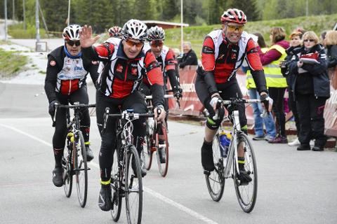 Rana sykkelklubbvelger å avlyse Polarsirkerittet på grunn av trafikksikkerheten i Dunderlandsdalen. Her fra målgangen på Skillevollen i 2016. Foto: Kenneth Haagensen Husby