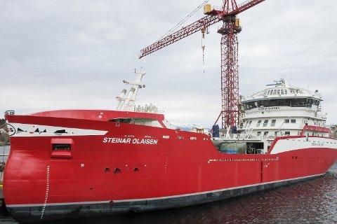 8. juli skal Nova Seas nye brønnbåt «Steinar Olaisen» døpes på Lovund. 14 personer skal jobbe på båten, men bare syv om gangen.