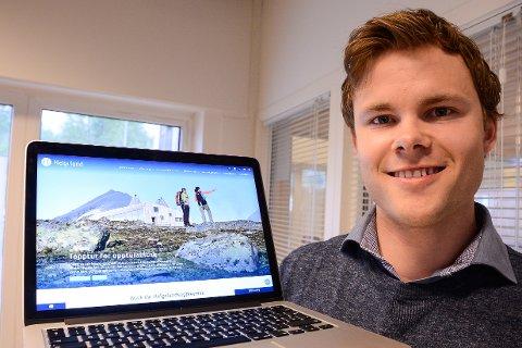 Simon Fossheim i Helgeland reiseliv har laget en ny nettside som skal gi folk inspirasjon til å utforske regionen